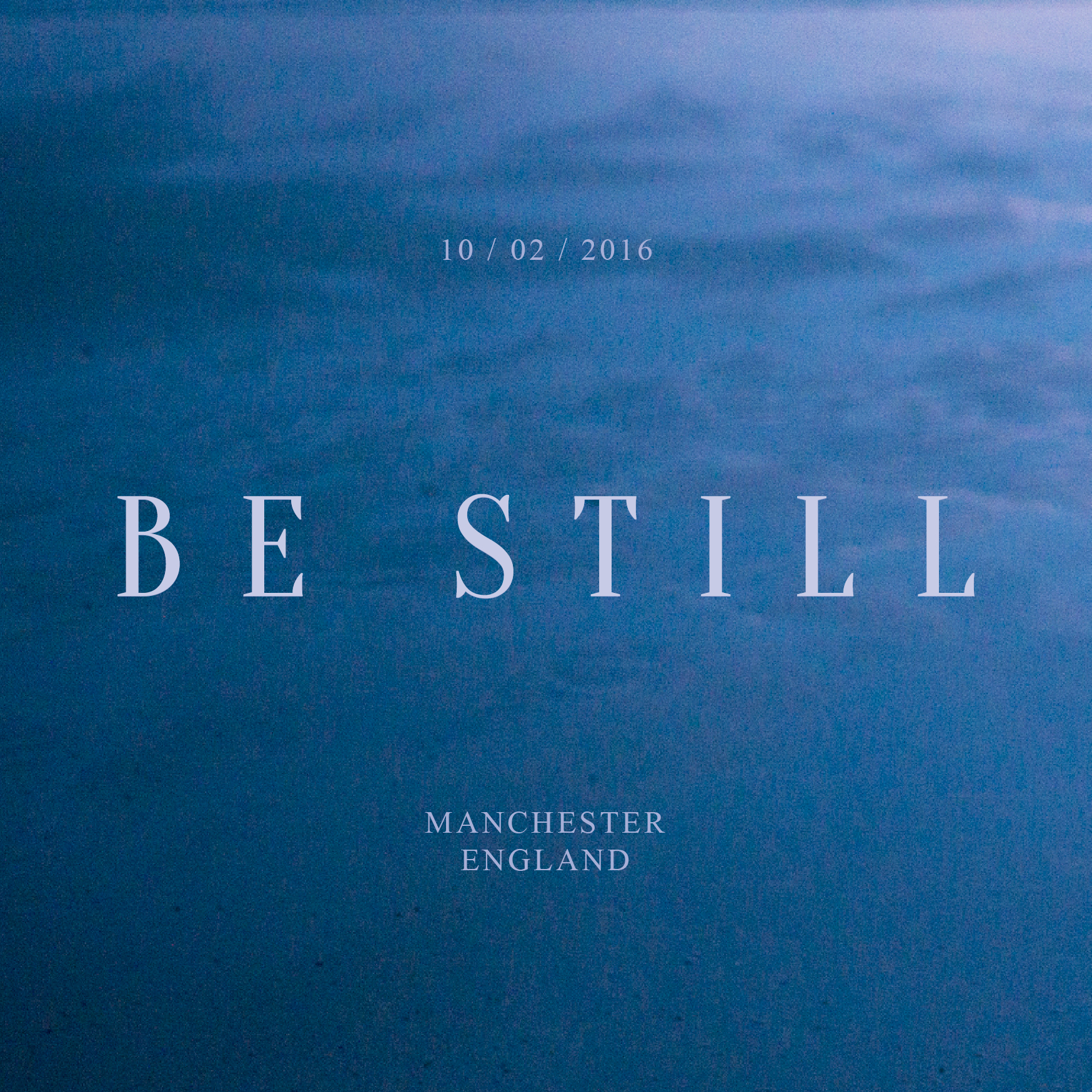Stillness of water #BeStillMcr