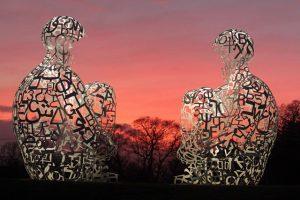 Spiegel by Jaume Plensa taken at The Yorkshire Sculpture Park by Martin Lee