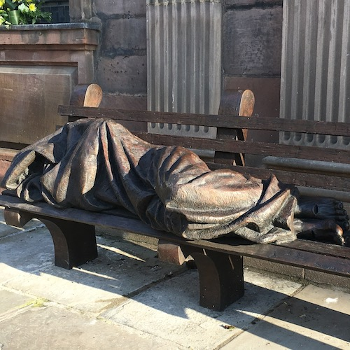 Homeless Jesus by Timothy Schulz